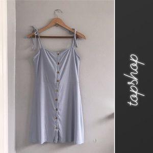 Topshop Ribbed Button Down Mini Dress NWT • 10
